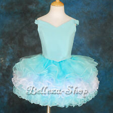 2pc Cup Cake National Pageant Dress DIY Shell Party Flower Girl Size 2T-10 PT001