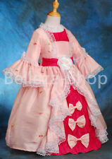 50% OFF Girl Embroidery Vintage Victorian Costume Pageant Party Dress 2-10 VD004