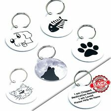 Custom Personalised Pet Cat Dog Name ID Tag Pet Tags - Engraved FREE