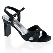 PLEASER Romance-313 Black Womens Square Heels Sandals