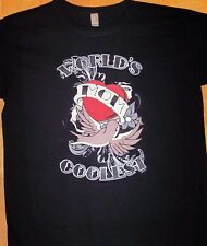 WORLD'S COOLEST MOM  Ladies Black T Shirt  Sz Sm - 3XL  Tell Mom She's The Best