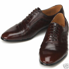 Jurdan Mens Brown Leather Dress Oxfords Shoes All Size