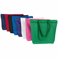 Liberty Bags Large Zipper Recycled Zipper Tote Bag 8802 Beach Bag - 19 COLORS!