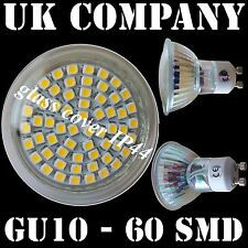 GU10 - 60 SMD WARM /DAY WHITE REPLACES 50W LIGHT BULBS