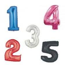 """34"""" LARGE FOIL NUMBER BALLOON 0-9, 4 COLOURS AVAILABLE"""