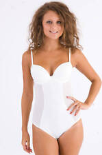 M&S (made for) Shapewear Firm Control Satin & Sheer Cream Body HSO 8976
