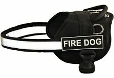 Dog Harness with Removable Velcro Patches FIRE DOG