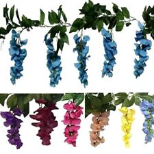 6' Floral Silk Flowers Wisteria Vine Garland Artificial Plant Wedding Decoration