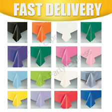 """Plastic Tablecover Cloth Oblong 54"""" X 108"""" 16 Colours"""