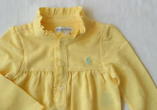 NWT Ralph Lauren Girl's Ruffle Polo Coverall Romper Long Sleeve/ Size 9M