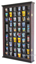 56 Shot Glass Shooter Display Case Wall Cabinet Holder Rack, Glass Door SC56