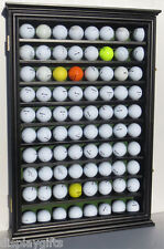 Wall Shadow Box Display Cabinet to hol 80 Golf Balls, Glass Door: GB80