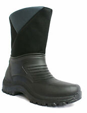 55E MENS BOYS BLACK GREY WINTER SNOW MOON SKI FUR BOOTS SIZES 2-7