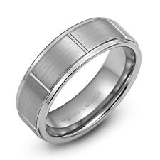 New Tungsten Carbide Wedding Ring Mens Wedding Band Size  8 - 12