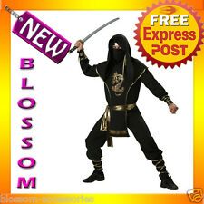 C364 Mens Ninja Warrior Elite Collection Halloween Fancy Dress Costume L XL