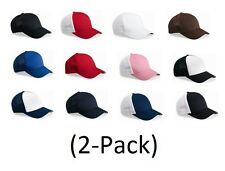 Flexfit Trucker Hat 2-Pack, Baseball cap, Blank Hat, 12 Colors (Style 6511)