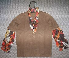 NWT LANE BRYANT BROWN ORANGE FALL SWEATER TOP WOMEN PLUS 14 16 18 20 22 24 26 28