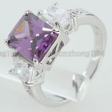 4.6CT Purple Cubic Zirconia 18K Gold Plated Fashion Ring JR11518 Free Shipping