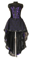 Custom Made Goth Long Purpl Vamp Victorian Corset Dress Prom Up to UK Size 4-36