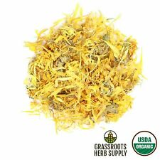 Certified Organic Calendula Officinalis Marigold Dried Flowers Choose 1-16 oz