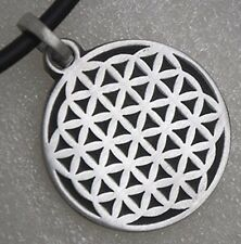 Seed Flower of life Pagan hexagon sacred geometry CROP CIRCLES Pewter Pendant