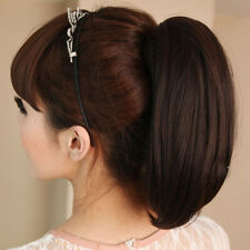 New Woman's Stylish Short Straight Ponytail Long Claw Clip in Layered Hair KP46