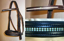 FSS German 2x Row TINY Crystal COMFORT Dressage Bridle Custom Made Sparkle NEW