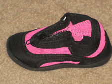 ZIPPER AQUASOCKS GIRLS WATER SHOES Pool Beach PINK OR BLUE Sizes 5 to 10 NEW