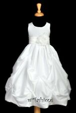 WHITE BAPTISM CHRISTENING COMMUNION BRIDAL FLOWER GIRL DRESS 6M 9M 2 4 5 6 8 10