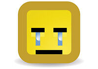 Crying Pixel Smiley Face Retro Old Skool Classic Cool Emoticon T-Shirt Tee New