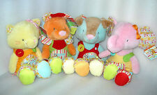 Love to Learn Baby Activity Plush Soft Toy - Dog, Cat, Lion, Elephant - NEW