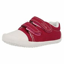 Clarks Girls Kirsty Hot Pink Canvas Pre Walkers