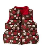 GYMBOREE SWEET TREATS BROWN w/ ROSES PUFFER  VEST 5 6 7 8 10 12 NWT