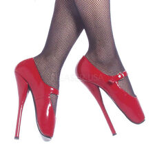 PLEASER Ballet-08 Womens Sexy Red Ballet High Heels Extreme Stiletto Point Shoes