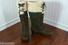 NEW Womens UGG Edmonton ALL SIZES Chocolate/Lodge Green Leather WATERPROOF Boots