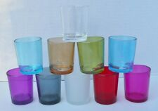 Clear Colored Glass Votive Holders  -  Individually Sold  -  10 Various Colors