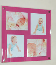"Acrylic perspex 24x24""  multi wall acrylic picture photo frame for 4x 10x8"""