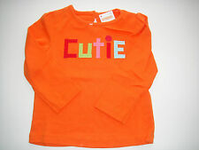Gymboree NWT COZY CUTIE Tee Top Shirt Orange Cutie Ribbon 2 2T 3 3T 4 4T 5 5T