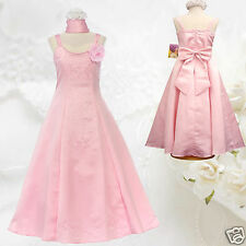 New Girl National Pageant Wedding Easter Formal Party Dress 8 10 12 14 16 Pink