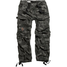 SURPLUS AIRBORNE MENS BAGGY TROUSERS COMBAT ARMY WORK PANTS BLACK CAMO PATTERN