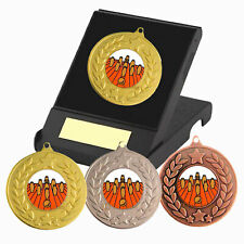 Skittles Medal in a Presentation Box - Free Engraving - Skittles Trophies - New