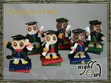 Graduation Wise Owl Mini Figurine, Regency Fine Arts, exam pass gift,choice of 6