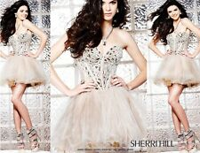 SHERRI HILL 1403  FREE EARRINGS+PRICE MATCH  MIRROR PROM DRESS BRIDAL WEDDING