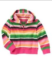 GYMBOREE CHEERY ALL THE WAY STRIPE FLEECE CARD HOODED JACKET 3 5 6 7 8 10 12 NWT