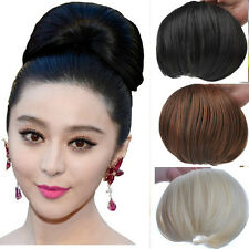 Woman's Girl's Big Hair Buns Clip-in Hair Extension Beautiful Bride Wigs KP06-1