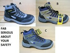 MENS SAFETY WORK HIKER BOOT TRAINER WORKFORCE STEEL TOE CAP AND MID SOLE FAB106