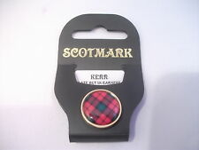 New Tartan Gold Plated Lapel Pin MacLennan - Russell