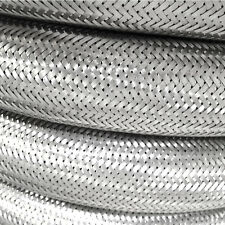 Stainless Steel Braided Hose Rubber Over Braid Fuel Line Hose Petrol Overbraid