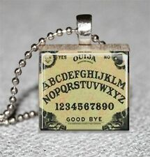 Ouija Board Scrabble Tile Pendant Handcrafted Recycled Board Game Tile