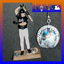 MLB NEW YORK METS DAVID WRIGHT FIGURE & PHOTO LOGO BASEBALL CEILING FAN PULLS